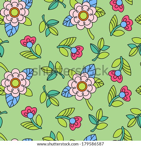 Vector background with flower for your design