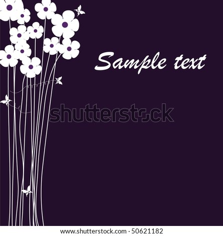 vector background with flowers. - stock vector