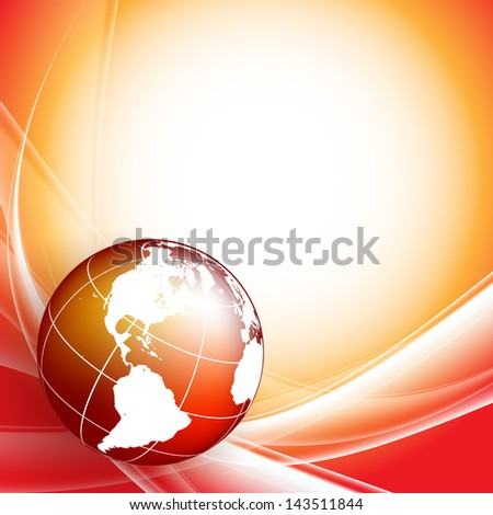 vector background with globe and copy space. Eps10