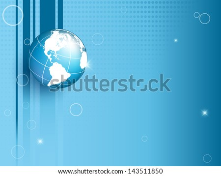 vector background with globe and copy space. Eps10 - stock vector