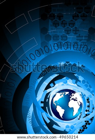 Vector background with globe; clip-art