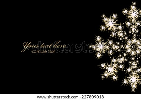 Vector background with glowing snowflake - stock vector