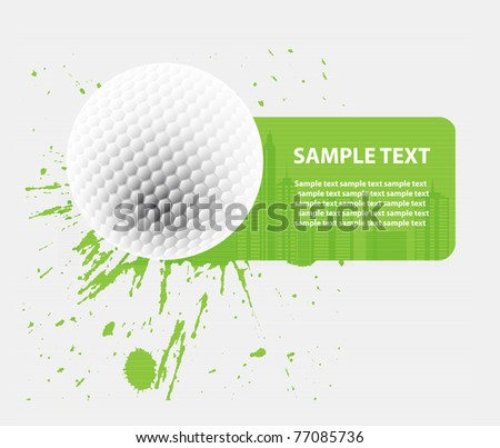 vector background with golf ball