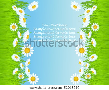 vector background with grass.
