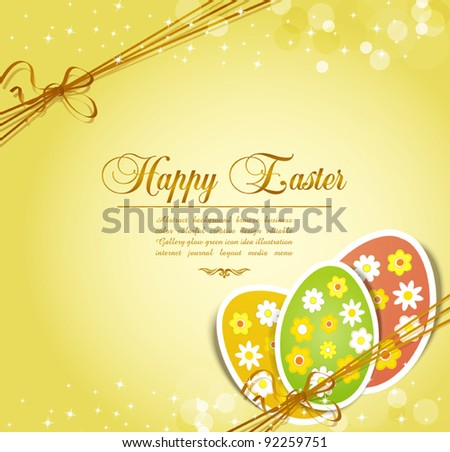 vector background with holiday Easter eggs - stock vector