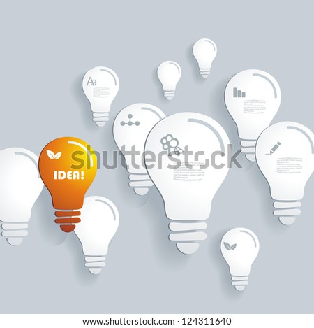 vector background with idea icon - stock vector