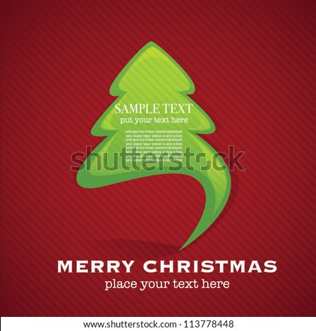 vector background with image of Christmas tree for your text