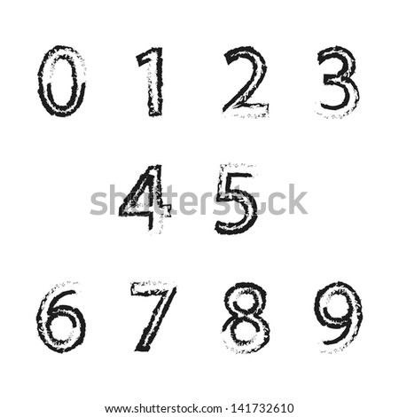 Vector background with numbers - stock vector