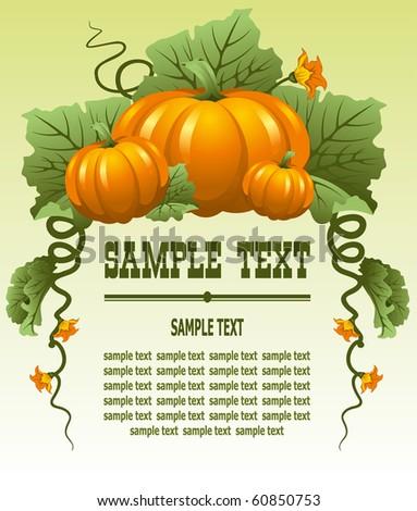 Vector background with  october pumpkin - stock vector