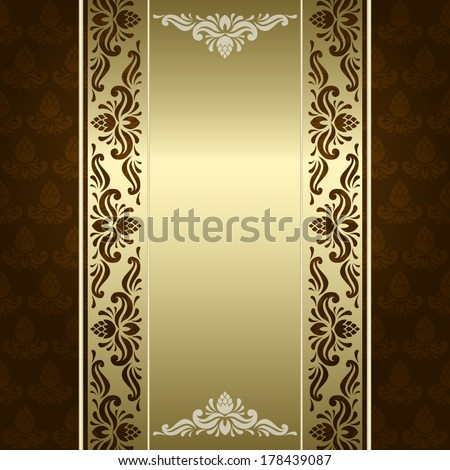 vector background with ornamental elements