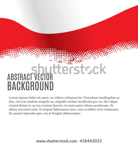 Vector background with Polish flag and copy space