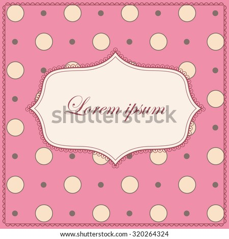 Vector background with polka dot pink