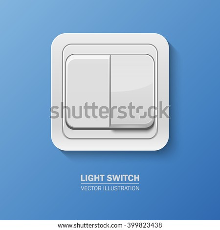 Vector Background With Realistic Light Switch