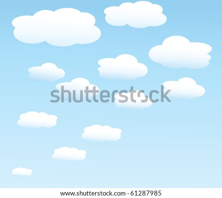 vector background with sky. - stock vector