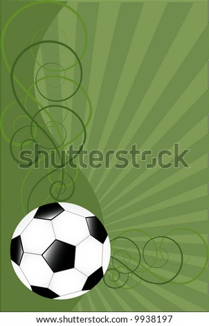 Vector background with soccer ball - stock vector