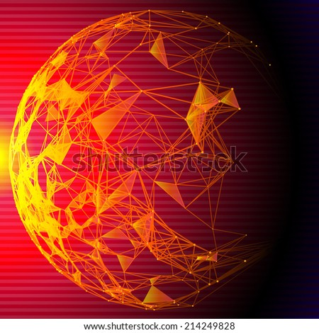 Vector background with sphere. Communication concepts.  - stock vector