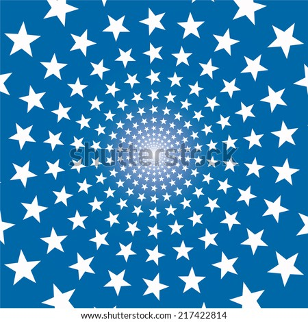 Vector background with stars. - stock vector