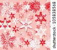 Vector background with various snowflakes. Abstract gentle illustration - stock vector