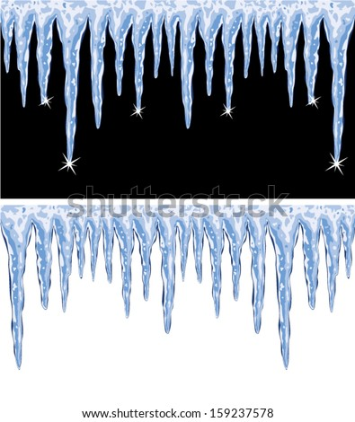 vector backgrounds of shiny icicles  - stock vector