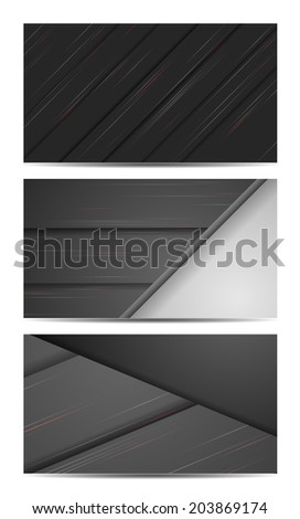 vector backgrounds set, elements for your design. Eps10
