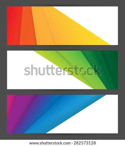 vector backgrounds set, elements for your design. Eps10 - stock vector