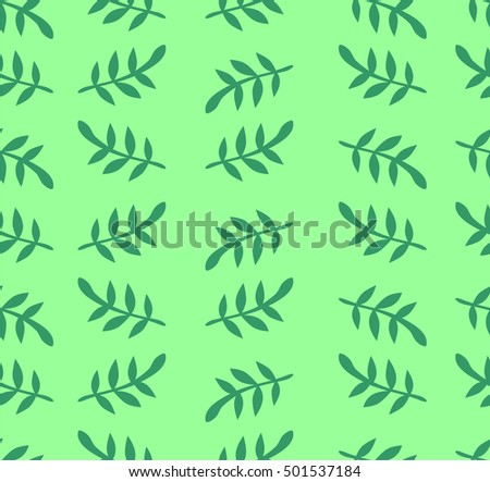 Vector backgrounds with green leaves.