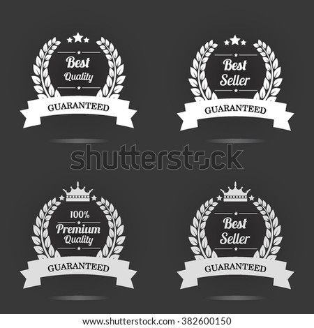 Vector badge collection. Premium quality guaranteed label. Best seller badge vector illustration. - stock vector
