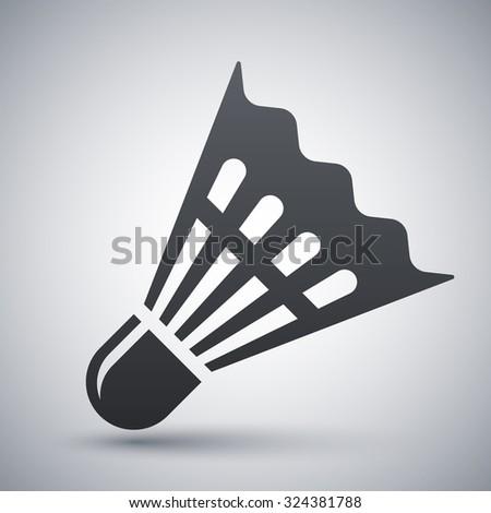 Vector badminton shuttlecock icon - stock vector