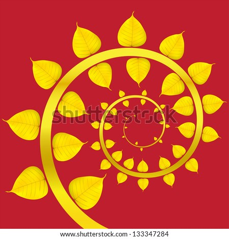 Vector Baipo gold on a red background. - stock vector
