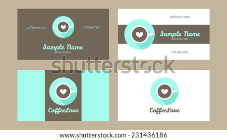 Vector bakery coffee shop cafe restaurant stock vector royalty free vector bakery coffee shop cafe or restaurant business card templates with flat modern logo reheart Choice Image