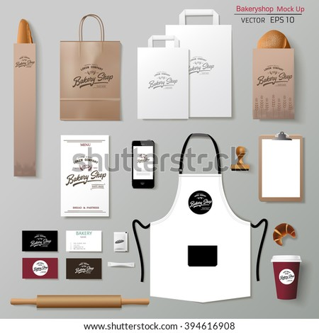 ... corporate branding identity template design set. Take away mock up