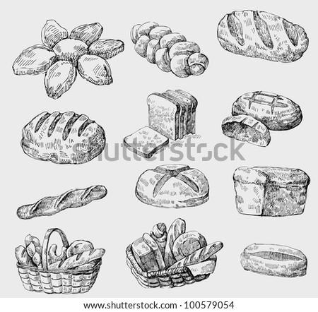vector bakery seamless - stock vector