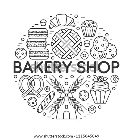 Vector Bakery Shop Banner Template Made Stock Vector Royalty Free