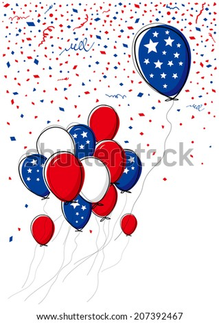 Vector balloon on white background