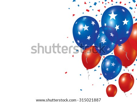 Vector balloons design on white background
