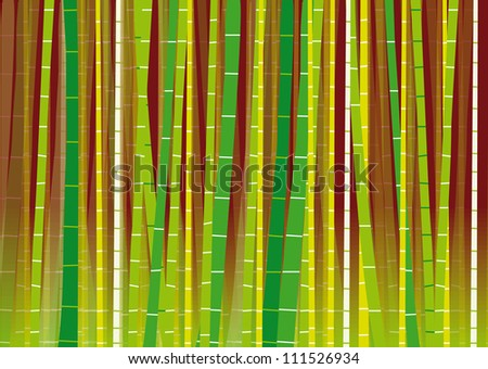 Vector Bamboo Forest on Gradient Background - stock vector