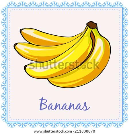 Vector bananas. A bunch of bananas - stock vector