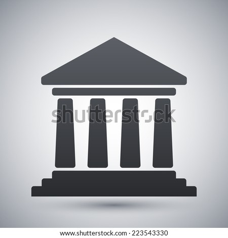 Vector bank building icon - stock vector