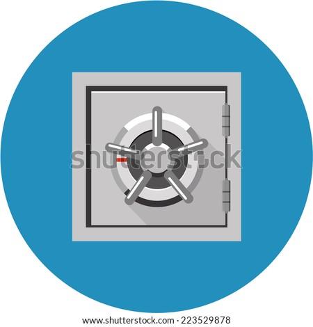 Vector Bank Safe - stock vector
