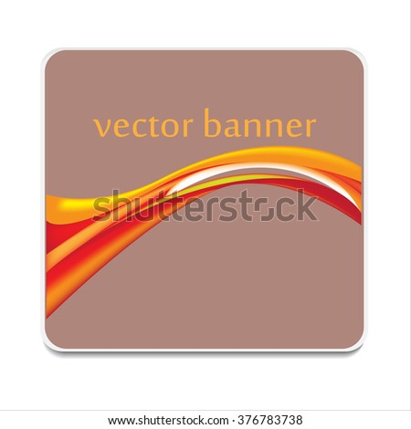 Vector banner abstract moder icon