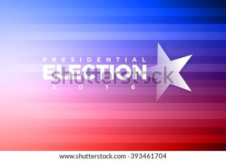 Vector banner for presidential election. - stock vector