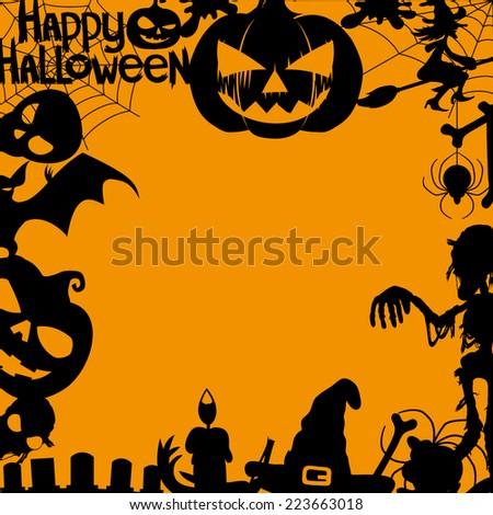 Vector banner. Halloween. - stock vector