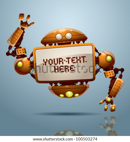 vector banner robot 8 - stock vector
