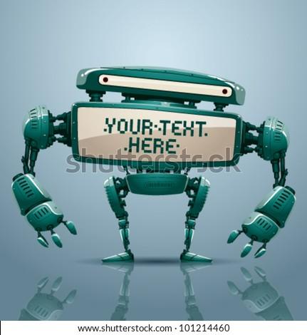vector banner robot 9 - stock vector