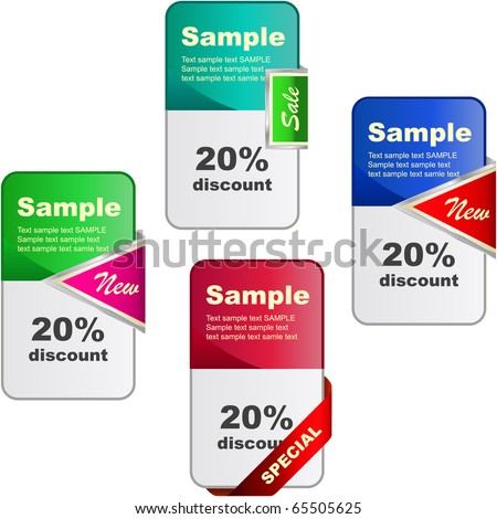 Vector banner set for sale. - stock vector