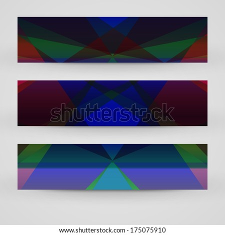 Vector banner set for your design, abstract Illustration.