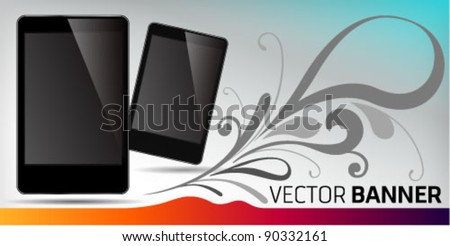 Vector Banner Smart phone promotion. Graphic Design Editable For Your Design.   - stock vector