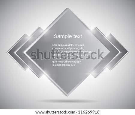 Vector banner speech bubble - stock vector