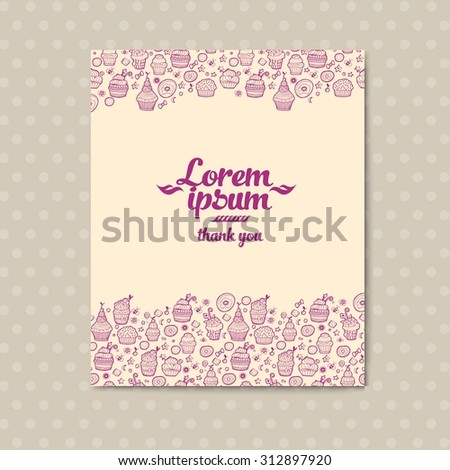 vector banner templates floral doodles romantic stock vector