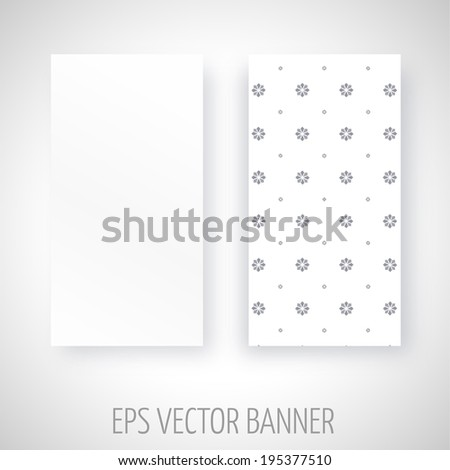 Vector banner with geometric decoration